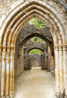 Entrance to Prior's Parlour, Abbaye d'Orval, Belgium  (by archer10)