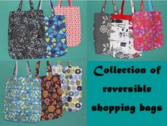 Collection of reversible shopping bags