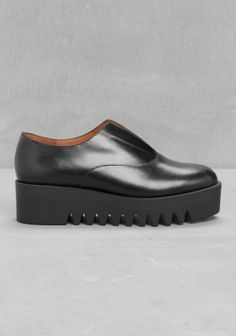 & OTHER STORIES Eye-catching leather flats with a chunky platform and an elastic panel on top of the vamp.