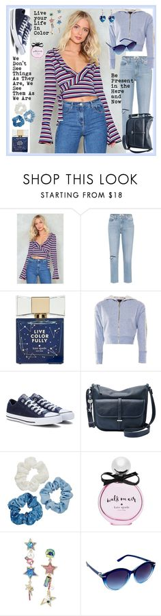 """Saturday Stripe"" by styledirectory ❤ liked on Polyvore featuring Nasty Gal, Paige Denim, Kate Spade, OKAYLA, Converse, FOSSIL, Mudd, Betsey Johnson and Nanette Lepore"