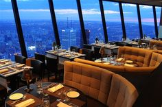One of the world's best revolving restaurants, 360 Restaurant in Toronto.