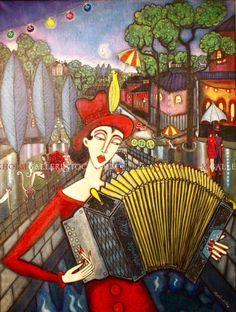 Angelica Wiik - oljemålning - Drömmarnas allé