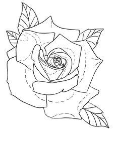 Flower Tattoo Stencils, Drawing Stencils, Rose Stencil, Flower Tattoo Drawings, Floral Tattoo Design, Tattoo Design Drawings, Flower Tattoo Designs, Armband Tattoo Design, Tattoo Sleeve Designs