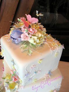 Pastel Floral Top by Elegant Cake Creations AZ, via Flickr