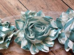 Shabby Chiffon Flower Trim      2.5 shabby flower      These are great for crafts, embellishments, scrapbooking, headbands and anything you can