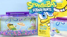 Nickelodeon Spongebob Squarepants Betta Bow Fish Tank Setup + Review By ...