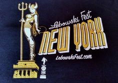 Lebowski Fest Shirt 2006 Large Calmer Than You are Maude Viking Bowling Black #Gildan #GraphicTee