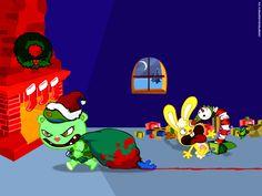Merry F***ing pixels Happy Tree Friends Flippy, Baby Lyrics, Christmas Holidays, Xmas, Kids Shows, Christmas Wallpaper, Epiphany, 2nd Birthday Parties, Cool Kids