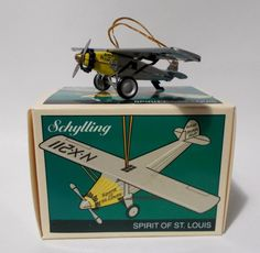 Spirit of St Louis Plane Ornament Schylling Tin Toy Vintage Christmas #Schylling