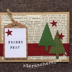 Weihnachtskarte mit Designpapier Erstausgabe  www.sternscherepapier.wordpress.com