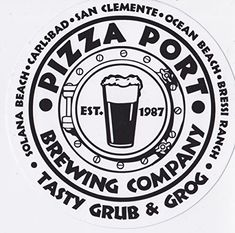 64oz BEER GROWLER PIZZA PORT Brewing Company San Diego CALIFORNIA