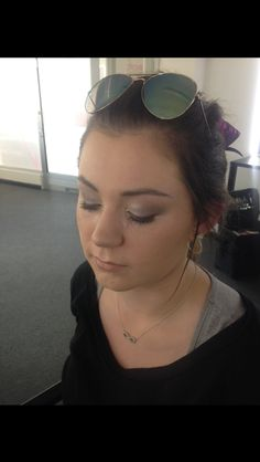 Smokey eye done on Brodi with airbrush used on the face for a perfect finish