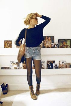 Levi's Beloved Levis Shorts, Beloved Leather Shoes, Beloved Vintage Bag, Beloved Knitted Sweater