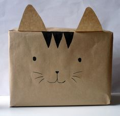 Emballage cadeau chat !