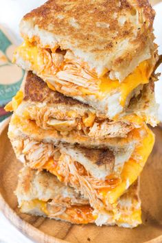 Buffalo Chicken Grilled Cheese Sandwiches are sure to satisfy any buffalo chicken craving!