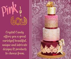 Home Banner Wall - Crystal Candy Edible Diamonds, Candy Shop, Cake Tutorial, Types Of Art, Food Coloring, Beautiful Cakes, Pink And Gold, Icing, Cake Decorating