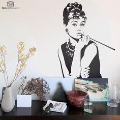Vinilo Audrey Hepburn #teleadhesivo #decoracion #audrey #hepburn #vinilo