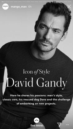 David Gandys recent collaboration with mango_man David Gandy, G Man, Book Boyfriends, Photo Black, How To Relieve Stress, Mens Fashion, Mango, Style Men, Stars