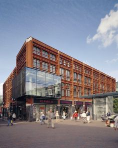 Mediatheek Delft by Dok Architecten, library and media center, adaptive reuse of old foundry building.