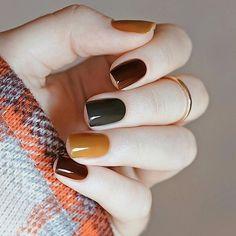 50 Stunning Short Nail Designs to Inspire Your Next Manicure in . - 50 Stunning Short Nail Designs to Inspire Your Next Manicure in Nail Designs Source by naildesigng. Fall Nail Art Designs, Short Nail Designs, Fall Nail Ideas Gel, Fall Nail Colors, Winter Nails Colors 2019, Fall Designs, Manicure Ideas, Gel Polish Designs, Warm Colors