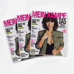 Yikes. Spanish conceptual artist Alvaro Carmona's 'Mein Kampf' replaced the Spanish January 2016 issue of Cosmopolitan with every word from Hitler's autobiographical manifesto. The results? Well, see for yourself. Link in bio. . . . . #magazine #fashion #women #feminism #politics #indoctrination #spain #meinkampf #hitler #issues #graphicdesign #magazines #makeup #style #glamor #glamour #cosmo #cosmopolitan #woman #brunette #hair #hairstyle #glitter #ad #ads #editorial