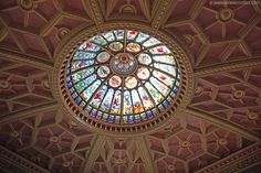 Ceiling of the Great Hall in the Hockey Hall of Fame in  Toronto