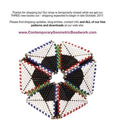 Our shop is temporarily closed while we get our THREE new books ready for the press! / The Contemporary Geometric Beadwork Bookshop