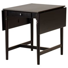 $129.00 - INGATORP Drop-leaf table - IKEA. Here is another table option. Not as storeable, though.