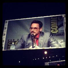 Robert Downey Jr.! #comicconsw #comicconit #comiccon #IronMan3 #Marvel