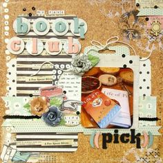 My Creative Scrapbook Oct 2014. Limited Edition kit book club lo - Prima - Coffee Break Collection