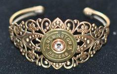 Rare Remington Peters 12 Gauge Shotgun Shell Bullet Cuff Bracelet