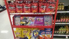 Random Time! - Target selling Mario Kart 8 Deluxe in an unusual place   We've known about the Switch/Frito-Lay contest for awhile now but it's still funny to see Mario Kart 8 Deluxe sold on an end-cap in Target right alongside some chips. No better combination than the Switch and dusty Dorito fingers!  from GoNintendo Video Games