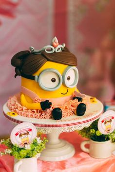 Girly Minion Party | CatchMyParty.com