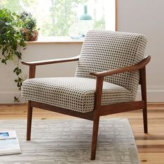 Mid-Century Show Wood Upholstered Chair | west elm #UpholsteredChair