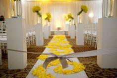 Modern Yellow Wedding Ceremony