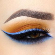 Blue color is important here because it gives strong seal to this makeup in earth shades.