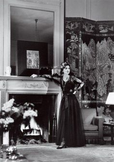 Coco Chanel in her apartment at the Ritz, 1937.