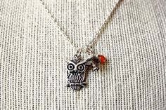 another wise owl cluster necklace.
