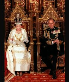 1975: HM The Queen and HRH The Duke of Edinburgh at the State Opening of Parliament