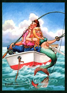 Fishing must be like catching a friend to a mermaid.