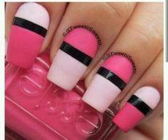 #pinknailpolish #stripes #pinknails