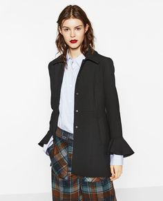 FRILLED CUFF FROCK COAT-NEW IN-WOMAN | ZARA United States