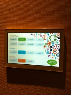 Interactive touch screens in C. Wonder's fitting rooms - choose the music and lighting. We love shops and Shopping - www.theretailpractice.com and www.facebook.com/ShoppedInternational