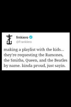 "Hey, I would also be proud. Also Frank Iero <3 FRANK - or the way sami loves to say it - ""FRAHNK"":"