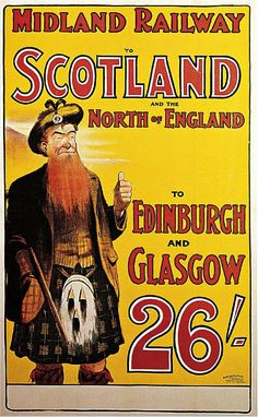1904 Midland Railway to Scotland and the North of England Travel Advertisement Art Picture Poster - Vintage Travel Poster Prints - Vintage Advertisement Art Poster Prints Travel Ads, Bus Travel, Train Travel, Retro Poster, Poster S, Poster Prints, Poster Vintage, Train Posters, Railway Posters