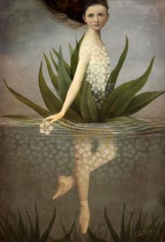 """""""Waterlily"""" Picture by Catrin Welz-Stein posters, art prints, canvas prints, greeting cards or gallery prints. Find more Picture art prints and posters in the ARTFLAKES shop. Art Fantaisiste, Art Du Monde, Pop Surrealism, Water Lilies, Whimsical Art, Surreal Art, Art Plastique, Oeuvre D'art, Fantasy Art"""