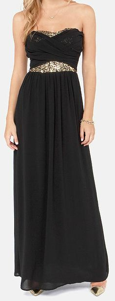 Black Sequin Maxi <3