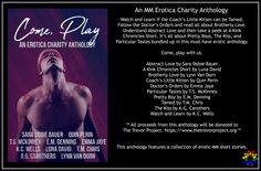 Cover Reveal - Come Play: An MM Erotica Charity Anthology - 𝘍𝘰𝘳 𝘛𝘩𝘦 𝘛𝘳𝘦𝘷𝘰𝘳 𝘗𝘳𝘰𝘫𝘦𝘤𝘵