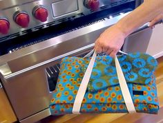 Bring a dish to pass using this easy-to-make Casserole Carrier from Sew4Home