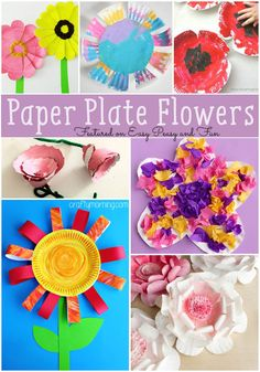 Paper Plate Flower Crafts